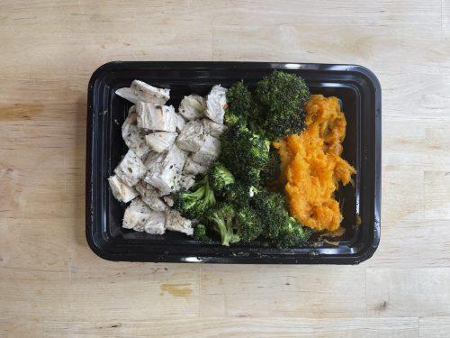 Chicken, Mashed Sweet Potatoes _ Veggies_